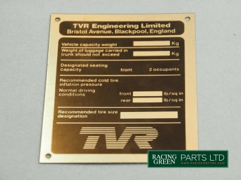 TVR 125U 184A - Decal Conformity
