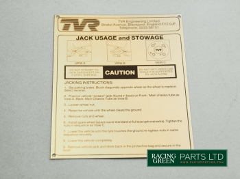 TVR 125U 186A - Decal Jack usage