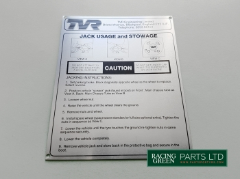 TVR S28U 10224 - Decal jack usage