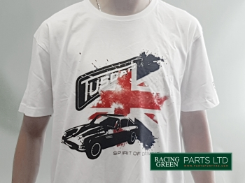 TVR TSH 6 L - T-Shirt, White -  with Tuscan Splash Flag