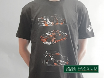 TVR TSH 8 L - T-Shirt, Black - 3 Stacked Tuscans