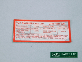 TVR V0560 - Decal Tyre info