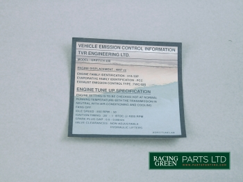 TVR V0562 - Decal emission control